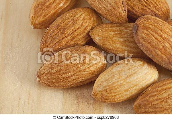 Pile of almonds - csp8278968