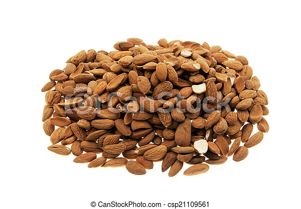Pile of almonds - csp21109561