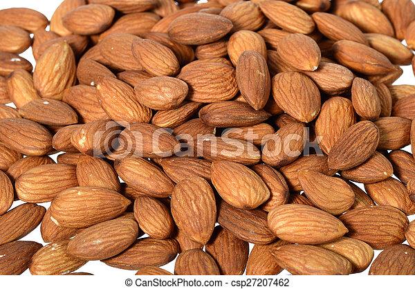 Pile of almonds - csp27207462