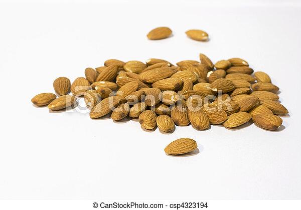 Pile of almonds - csp4323194