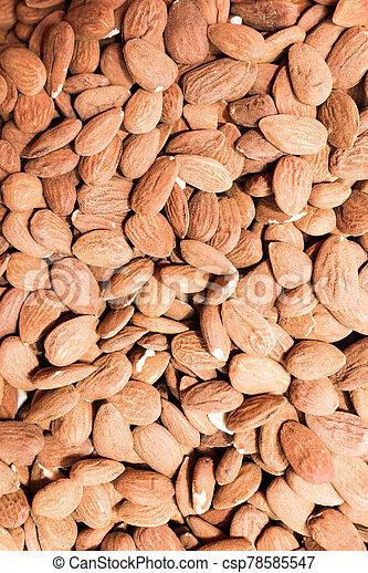 Pile of almonds - csp78585547
