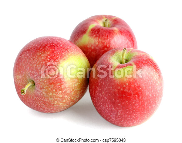 Pile of apples isolated on white background - csp7595043