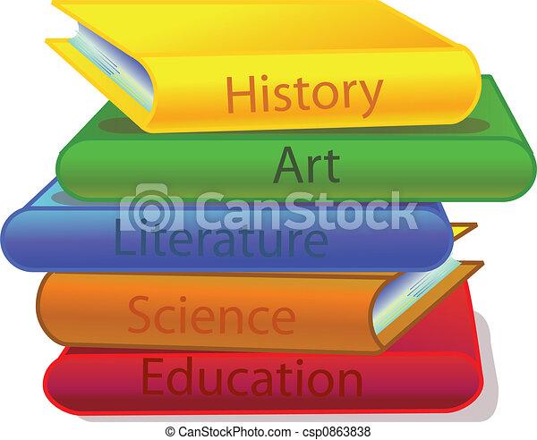 pile of books - csp0863838