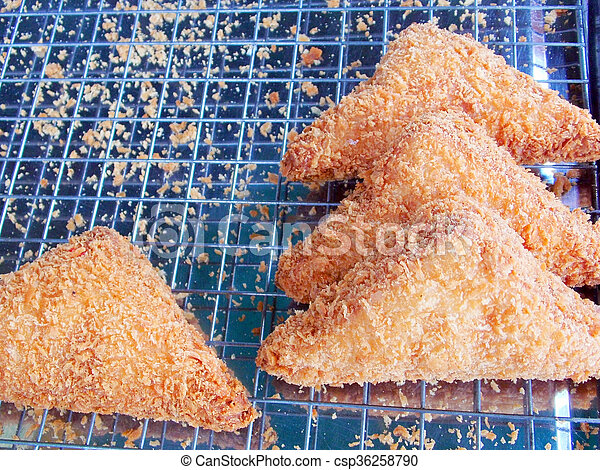 pile of bread fritter - csp36258790