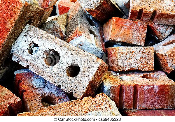 Pile of bricks - csp9405323