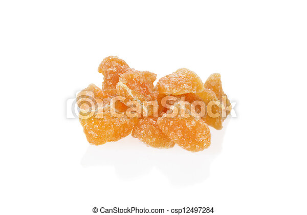 Pile of candied ginger shallow DOF - csp12497284