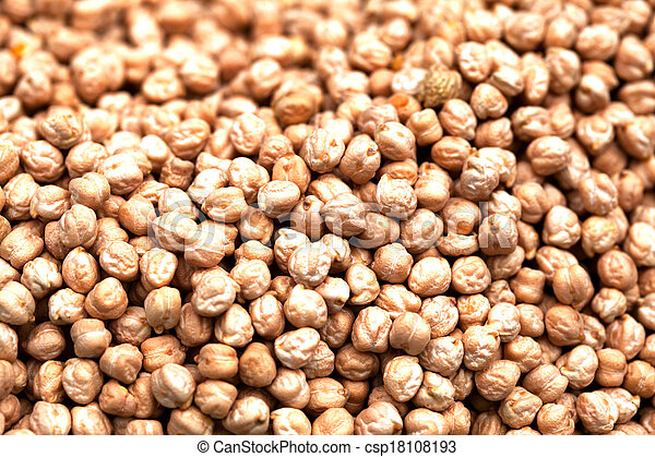 Pile of chickpeas sold at a market - csp18108193
