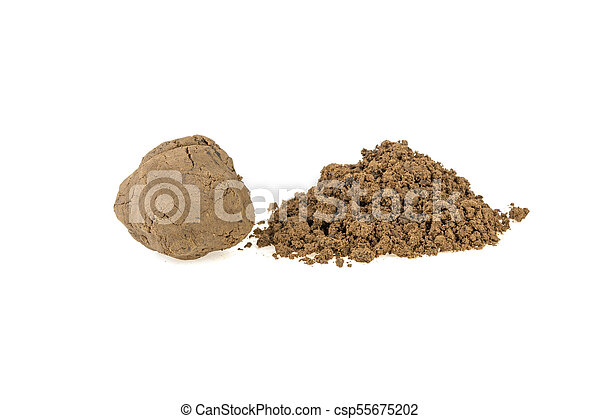 pile of clay on a white background - csp55675202