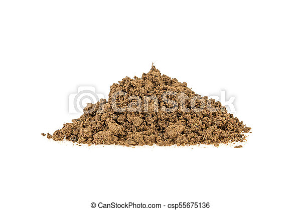 pile of clay on a white background - csp55675136
