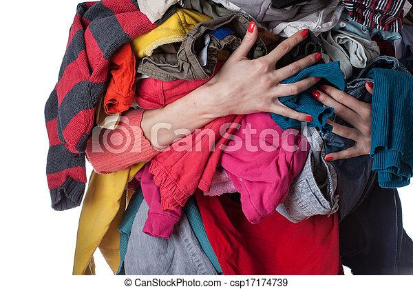 Pile of clothes - csp17174739