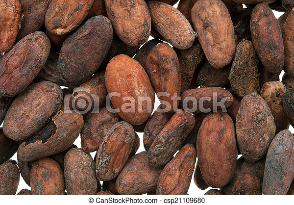 Pile of Cocoa beans - csp21109680
