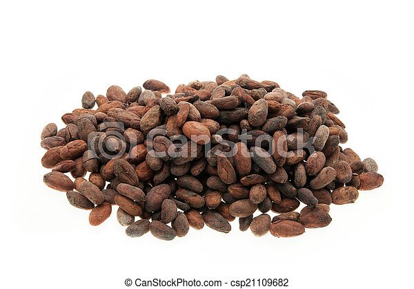 Pile of Cocoa beans - csp21109682