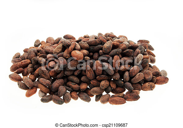 Pile of Cocoa beans - csp21109687