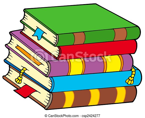 pile of colorful books isolated illustration stock illustrations rh canstockphoto com pile of books clipart black and white pile of books clipart png