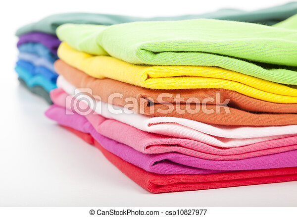 Pile of colorful clothes - csp10827977