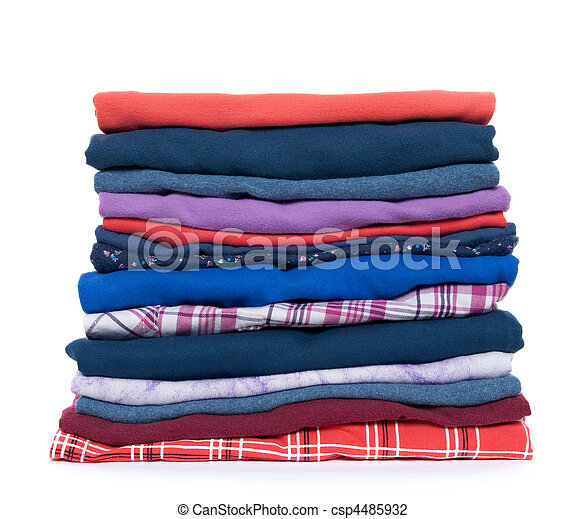 Pile of colorful clothes - csp4485932