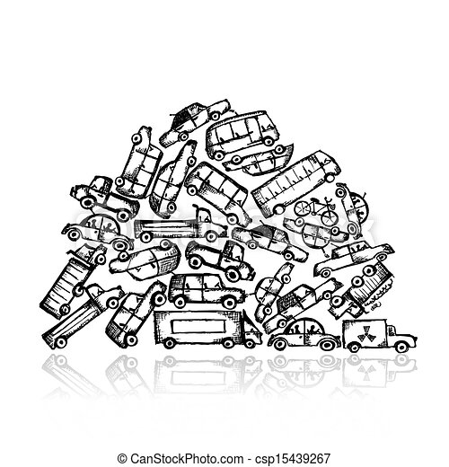 Pile of different cars - csp15439267
