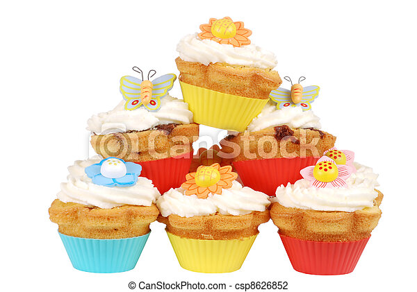 Pile of easter cupcakes - csp8626852