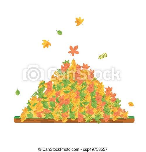 Pile Of Fallen Leaves Vector Pile Of Autumn Leaves Raking Autumn Leaves Season Fall Harvest Time Elements For Sites