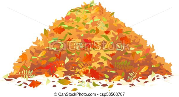 Pile Of Fallen Leaves Pile Of Various Autumn Fallen Leaves In Red And Orange Colors One Big Dump Of Leaves Autumn Concept