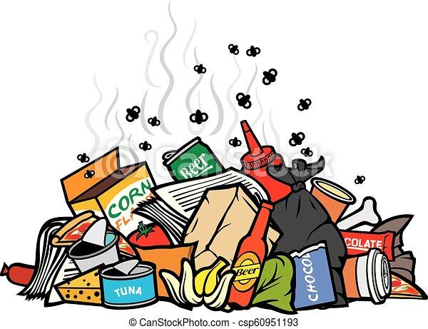 pile of garbage vector illustration - csp60951193