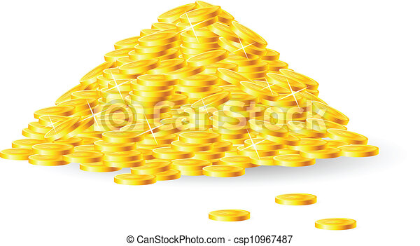 Pile of gold coins - csp10967487