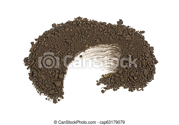 pile of ground isolated on white background - csp63179079