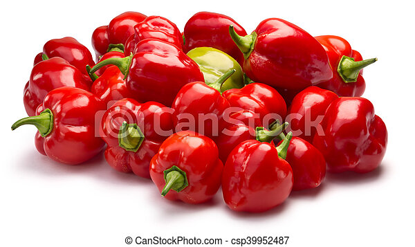Pile of Habaneros, clipping paths - csp39952487