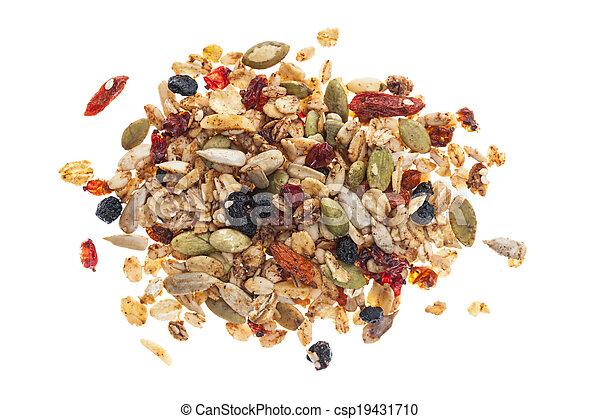 Pile of homemade granola - csp19431710