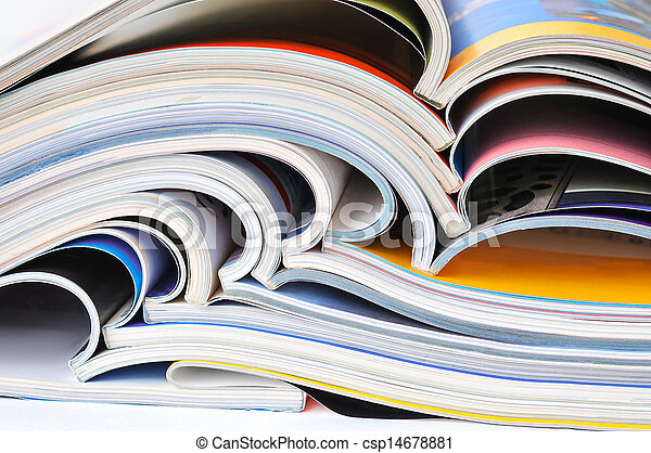 Pile of magazines - csp14678881