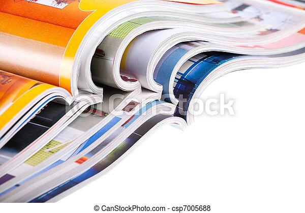 Pile of magazines - csp7005688