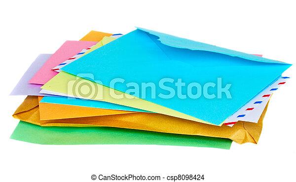 pile of mail - csp8098424
