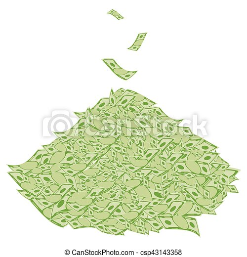 pile of money symbol of wealth success and good luck clipart rh canstockphoto ca Money Clip Art Black and White Money Clip Art Black and White