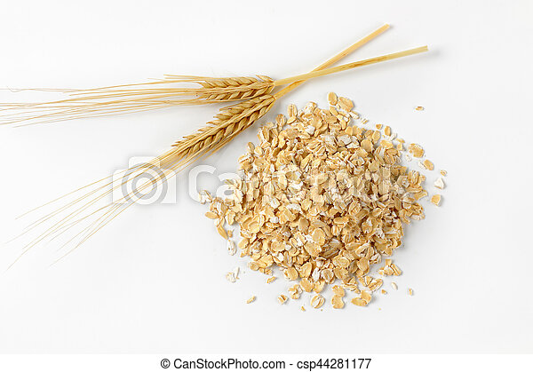 pile of oat flakes - csp44281177