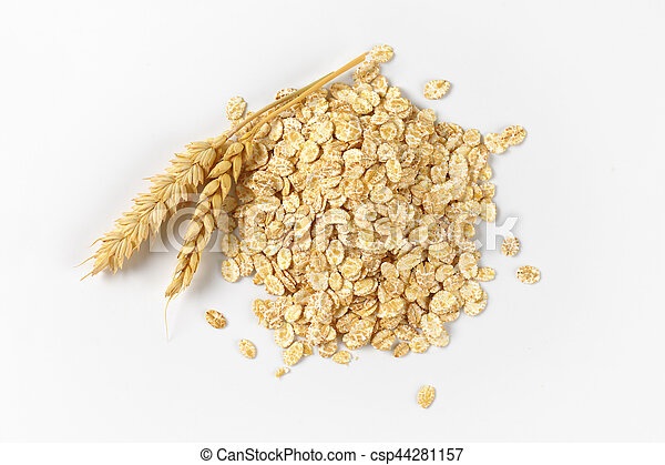 pile of oat flakes - csp44281157