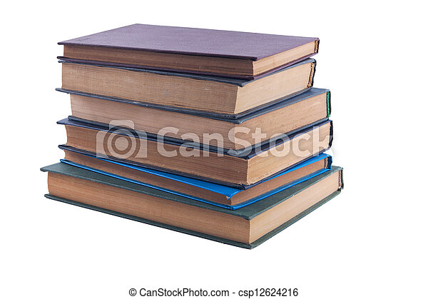 pile of old books - csp12624216