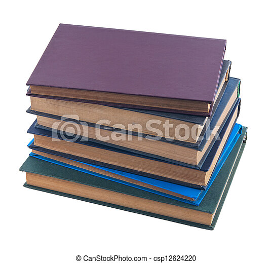 pile of old books - csp12624220