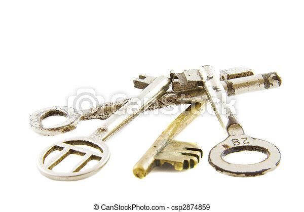 Pile of old keys - csp2874859