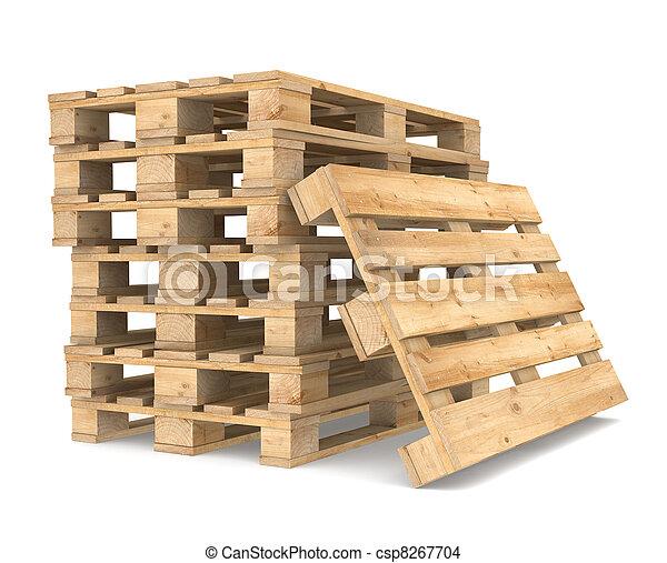 Pile of Pallets - csp8267704
