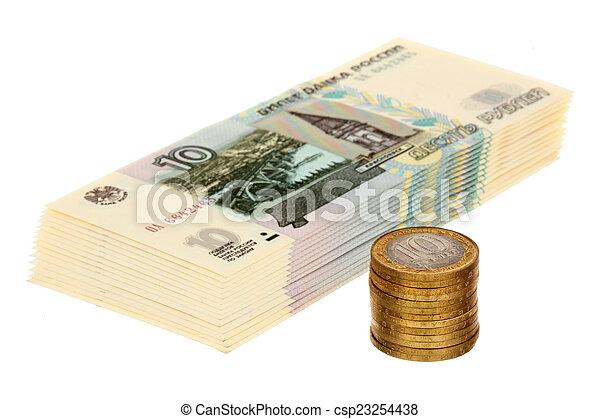 Pile of russian money - csp23254438
