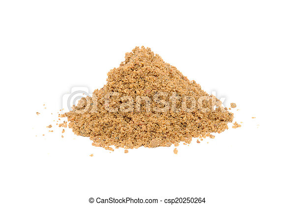 Pile of Sand Isolated on White Background - csp20250264