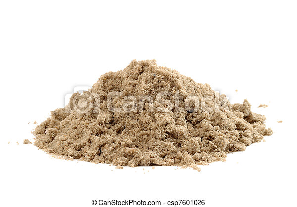 Pile of sand isolated on white background - csp7601026