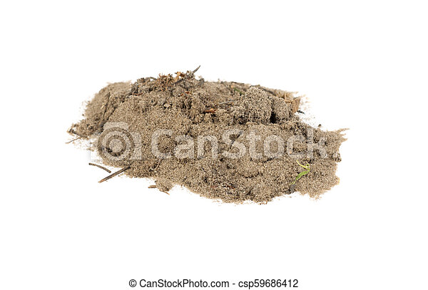 pile of sand on a white background - csp59686412
