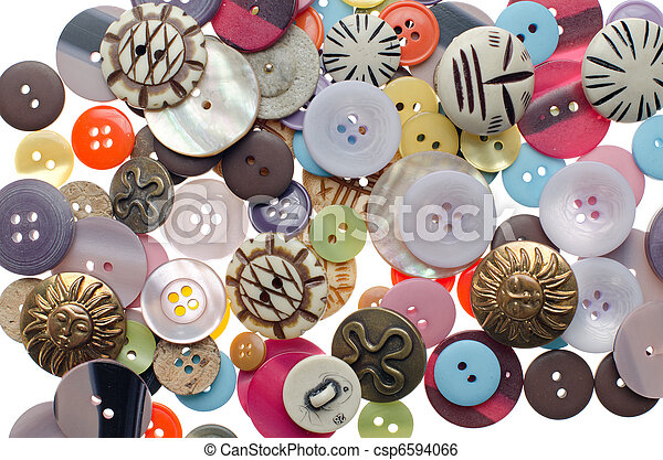 Pile of sewing buttons - csp6594066