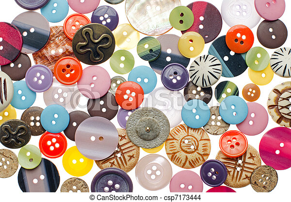 Pile of sewing buttons - csp7173444