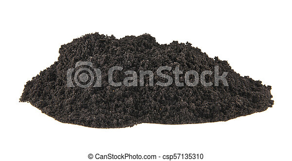 pile of soil isolated on white background - csp57135310