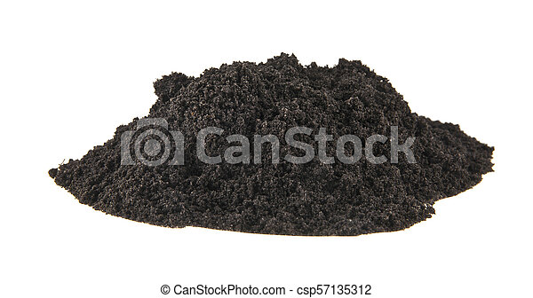 pile of soil isolated on white background - csp57135312