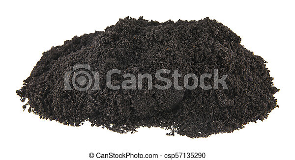 pile of soil isolated on white background - csp57135290