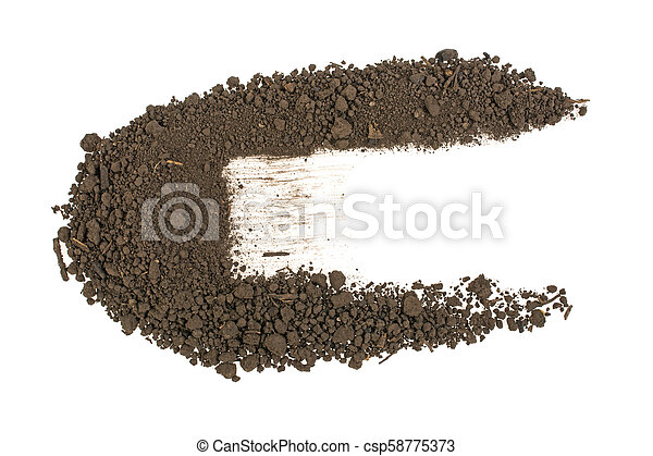 pile of soil on a white background - csp58775373
