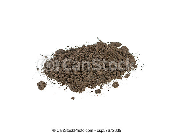 pile of soil on a white background - csp57672839